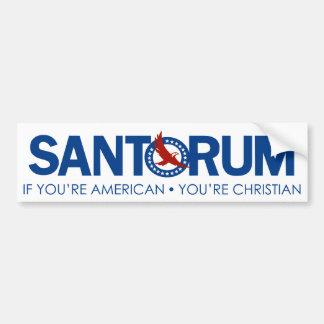 Santorum Religion Bumper Sticker