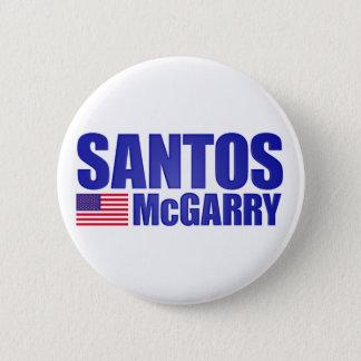 Santos McGarry 6 Cm Round Badge
