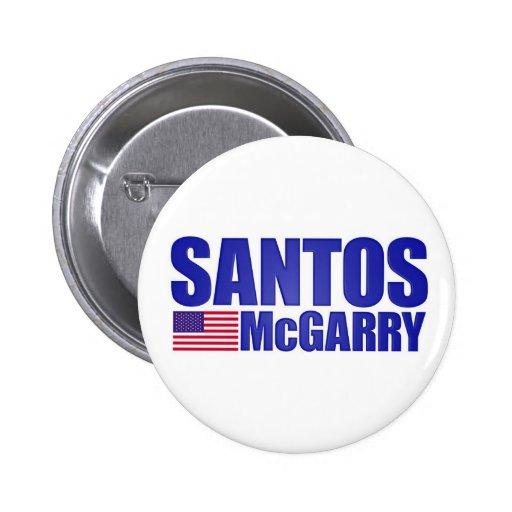 Santos McGarry campaign button