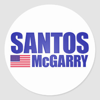 Santos McGarry Round Stickers