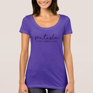 Santosha:  Be Content, Thankful & Happy T-Shirt