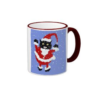 Santy Cat Snow Mug