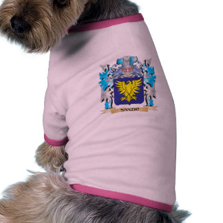 Sanzio Coat of Arms - Family Crest Dog Tee Shirt