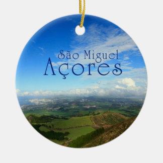 Sao Miguel island Azores Christmas Ornament
