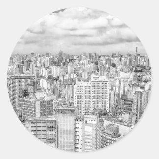 Sao Paulo, Brazil Classic Round Sticker