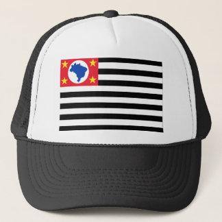 São Paulo, Brazil Flag Trucker Hat