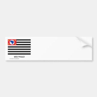 São Paulo, Brazil Waving Flag Bumper Sticker