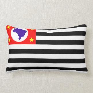 Sao Paulo city flag brazil symbol Lumbar Cushion