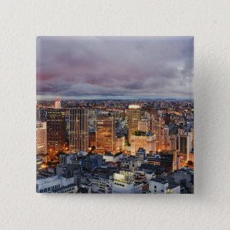 Sao Paulo Cityscape 15 Cm Square Badge