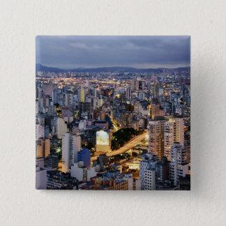 Sao Paulo Cityscape 2 15 Cm Square Badge