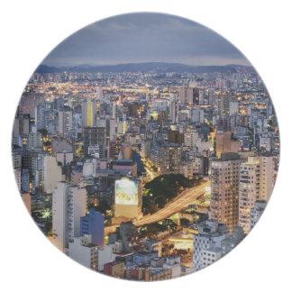 Sao Paulo Cityscape 2 Plate