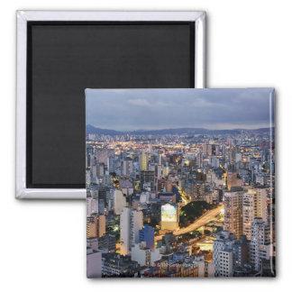 Sao Paulo Cityscape 2 Square Magnet