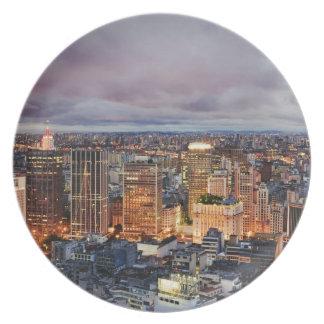 Sao Paulo Cityscape Plate