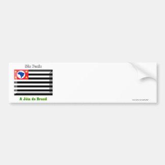São Paulo Flag Gem Bumper Sticker