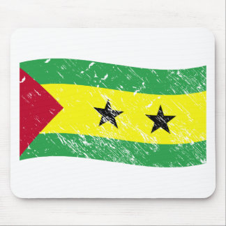 Sao Tome and Principe flag Mouse Pad