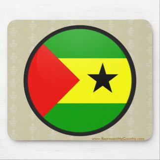 Sao Tome And Principe quality Flag Circle Mouse Pad