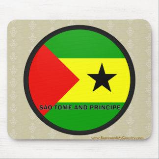 Sao Tome And Principe Roundel quality Flag Mouse Pad