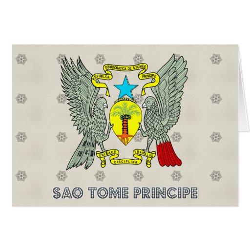 Sao Tome Principe Coat of Arms Greeting Card