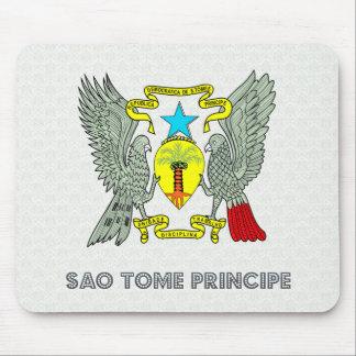 Sao Tome Principe Coat of Arms Mouse Pad