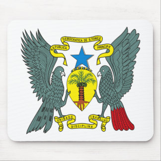 Sao Tome Principe Coat of Arms Mousepad