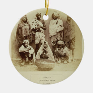 Saonras, an Aboriginal Tribe from Saugor, Central Christmas Ornament