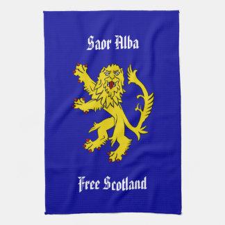 Saor Alba Free Scotland Gaelic Lion Kitchen Towel