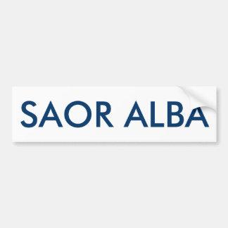 Saor Alba Gaelic Free Scotland Bumper Sticker Car Bumper Sticker