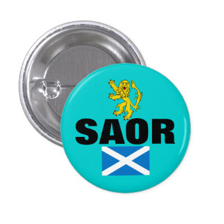 Saor Gaelic Free Scotland Lion Rampant Pinback Pin