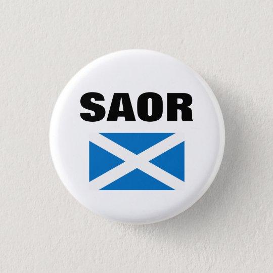 Saor Gaelic Free Scotland Saltire Pinback 3 Cm Round Badge
