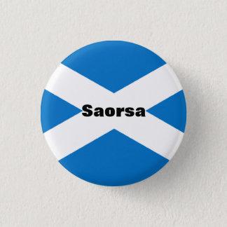 Saorsa Gaelic Freedom Scotland Pinback 3 Cm Round Badge