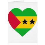 SaoTome & Principe Flag Heart Cards