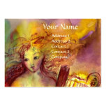 SAPHO , MUSIC AND POETRY, bright red yellow green Pack Of Chubby Business Cards