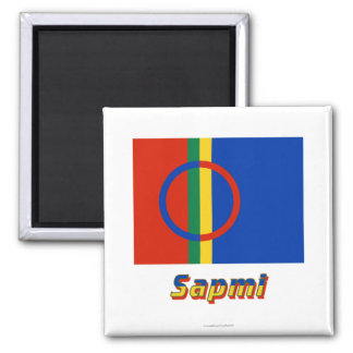 Sapmi Flag with Name Square Magnet