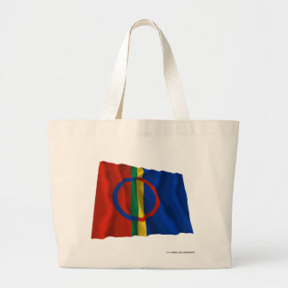 Sapmi Waving Flag Large Tote Bag