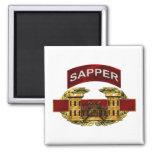 Sapper Tab w/ Combat Engineer Badge Square Magnet