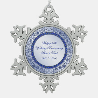 Sapphire 45th Wedding Anniversary Ornament