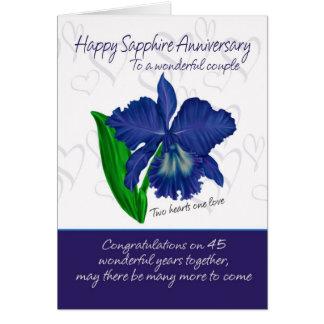 Sapphire Anniversary Card - 45th Anniversary Card