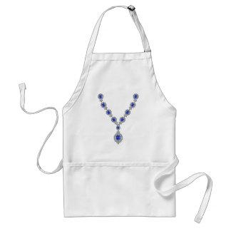 Sapphire Bachelorette Necklace Apron