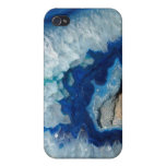 Sapphire Blue Agate Geode iPhone 4 Cases