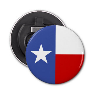Sapphire Blue and Red Texas Flag Bottle Opener