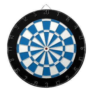 Sapphire Blue Black And White Dartboard