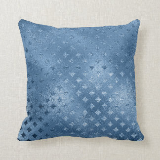 Sapphire Blue Celestial Diamond Cut Blue Glass Cushion