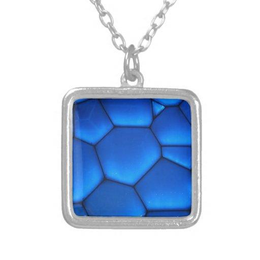 Sapphire Blue Dragon Scale Pendant