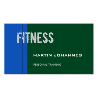 Sapphire Blue Forest Green Trendy Business Card