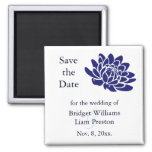 Sapphire Blue Lotus Flower Save the Date Magnet