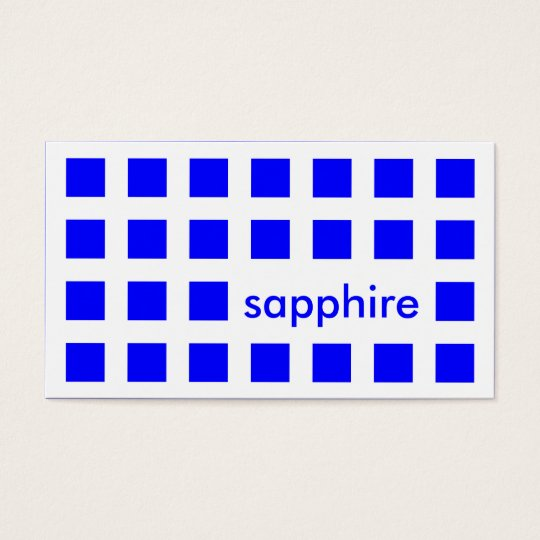 sapphire blue (mod squares) business card