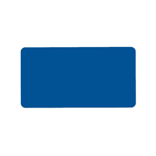 Sapphire Blue Personalised Dark Colour Background Label