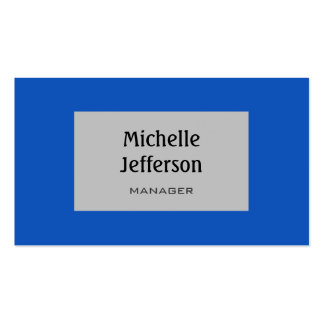 Sapphire Blue Silver Gray Trendy Business Card