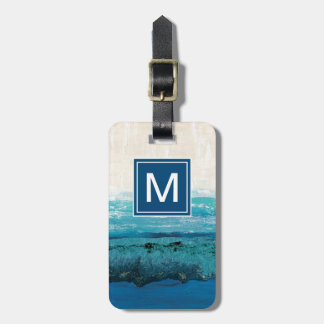 Sapphire Blue Watercolor Luggage Tag