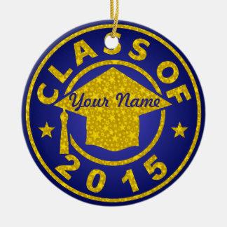 Sapphire Class Of 2015 Graduation Christmas Ornament